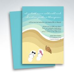 Tropical Beach Wedding Invitations - Reception Only Invitations