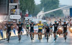 Because of the late running of the stage, there's no time for a victory lap. As a result Team Sky elected to lose 40 seconds off Chris Froome's 5 minute lead to celebrate the win as a team. It's a testament to Chris Froome's achievement that they were able to sacrifice that amount of time.