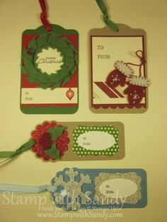 Stamp With Sandy: Winter Wishes Christmas Tags