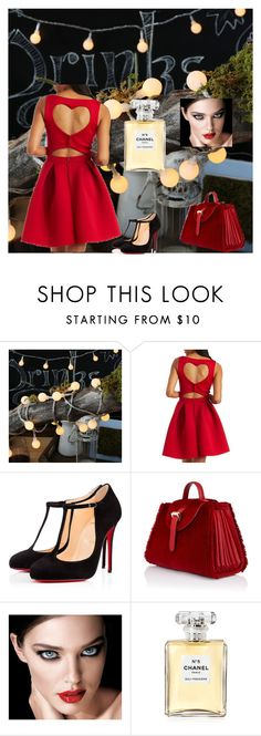 """""""Untitled #13"""" by penny-hz ❤ liked on Polyvore featuring Charlotte Russe, Christian Louboutin, Meli Melo, Chanel, women's clothing, women's fashion, women, female, woman and misses"""