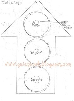 stoplight printable templates | Page #3: Road page Items needed: one toy car, various colored felt ...