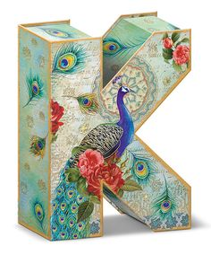 Look at this Rose Peacock Letter 'K' Storage Box on #zulily today!