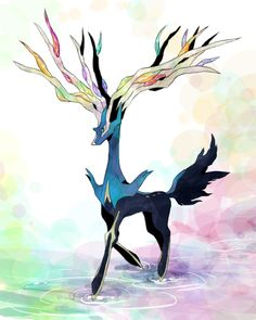 Another favorite new Pokemon, Xerneas. :)