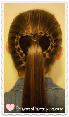 Lace braid ponytail #heart