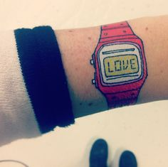 time for love - love watch tattoo