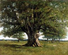 Le Chêne de Flagey, Peinture de Gustave Courbet