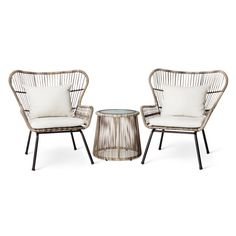 Latigo Rattan Patio Chat Set Threshold by Target Havenly is part of Target patio furniture - Shop this product on Havenly, where you can also browse similar products across other brands and even get interior design help to transform your space Target Patio Furniture, Wicker Patio Furniture, Rustic Furniture, Home Furniture, Furniture Layout, Antique Furniture, Furniture Stores, Cheap Furniture, Furniture Ideas