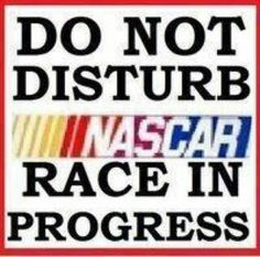 do not disturb sign for NASCAR fans