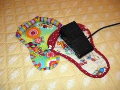 Finally! A way to keep your foot pedal from walking away from you while you're sewing. The inspiration is a favorite pair of flip flops. Big Foot - Pedal Rest Pattern.