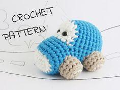 Amigurumi toy car crochet pattern pdf tutorial instant by ByMarika