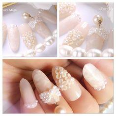 「指先まで準備はカンペキ!かわいいウエディングネイル」に含まれるinstagramの画像|MERY [メリー] Nails, Beauty, Instagram, Finger Nails, Ongles, Beauty Illustration, Nail, Nail Manicure