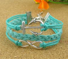 Anchor & Infinity charm Bracelet in Antique by TheGiftoftheMagi, $3.99