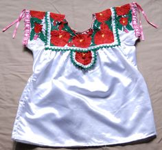 https://flic.kr/p/UaJz5 | Zapotec Blouse | a blouse worn by Zapotec women from the town of San Bartolome Quialana Oaxaca Mexico. This type of blouse is worn as an underblouse underneath a long sleeved blouse of a different style