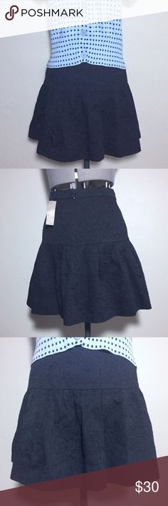 """NEW! J. Crew Black Textured Skater Skirt NEW With Tags! J. Crew Black Textured Skater Skirt. See pic 5 for close up of the texture. Very flattering skirt that is great for all seasons. Size 6 measures flat: 16"""" across top, 19"""" across hips, 30"""" across bottom, 17"""" long. 100% cotton, fully lined with 100% poly. Originally $80. 616/100/102417RL J. Crew Skirts Circle & Skater"""