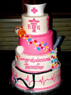 Birthday Cakes Specialty Cupcakes Cake Balls Cookies Yummie Except in Purple Nursing Graduation Cakes, Nurse Grad Parties, Nurse Party, College Graduation, Graduation Ideas, Cakepops, Memes Humor, Medical Cake, Medical Party