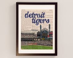 "Detroit Tigers Poster Banner 30/"" x 8.5/"" Personalized Custom Name Printing"