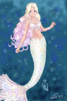 Moonstone de la sirena por ~ Sailor Moon Dress Up Mermaid Drawings, Mermaid Pictures, Mermaid Melody, Anime Mermaid, Sailor Moon Art, Mermaid, Creature Art, Fairy Art, Doll Divine
