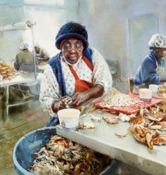 American painter Mary Whyte | Artist lives and works in South Carolina | Painting ...Working South
