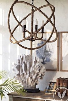 Entwine Rope Chandelier – Coastal Classic Home Decor – Onceit - All For House İdeas Decor, Classic Home Decor, Coastal Decor, Rope Chandelier, Home Decor, Coastal Light Fixtures, Diy Light Fixtures, 70s Home Decor, Fixtures Diy