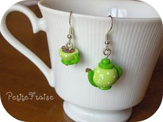 Fimo earrings.  Etsy.