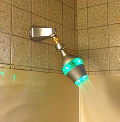 Color changing shower timer