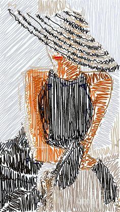 Elegant Woman Sketch Digital Art by Rafael Salazar