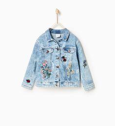 ZARA - KIDS - Embroidered denim jacket