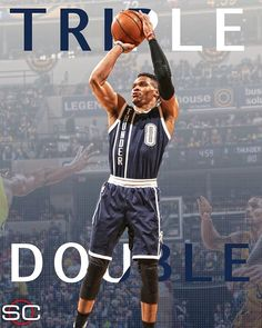 Russell Westbrook Pts, 14 Ast, 11 Reb) picks up his triple-double of the season as Thunder beat Pacers, Basketball Season, Football And Basketball, Basketball Players, Basketball Court, Baseball, Thunder Nba, Oklahoma City Thunder, Nba Quotes, Russell Westbrook