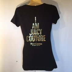 NEW Juicy Couture Black Soft T Shirt Small NEW Juicy Couture Black with Gold Metallic Graphic Soft T Shirt Small New Without Tags Firm Price Juicy Couture Tops Tees - Short Sleeve