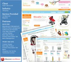 A perfect website for baby products designed by Discover Excellence Team
