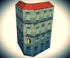 This is the Espada Building, more one nice paper model created by Spanish designers Mónica and Anibal, from Edifícios de Papel website. This paper model is available in 6 different scales