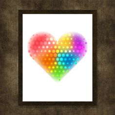 Dotted heart Valentine's day gift Printable by WhatAPrintableWorld
