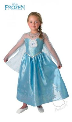 Licensed costume from the epic Disney adventure 'Frozen', the Elsa Deluxe Costume is also known as Elsa the Snow Queen Costume featuring full dress. Disney Fancy Dress, Fancy Dress For Kids, Disney Princess Dresses, Princess Costumes, Disney Dresses, Snow Queen Costume, Robes Disney, Frozen Elsa Dress, Anna Frozen