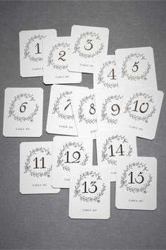 Hollyhock Table Cards