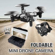 Foldable Mini Drone Camera – AOAOFY Buy Drone, Double U, Professional Drone, Take Video, Drone Technology, Aerial Drone, Led Night Light, Wifi, Remote