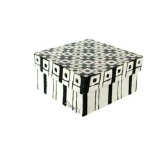 Graphic Black and White Decorative Storage Box by annarobertsart