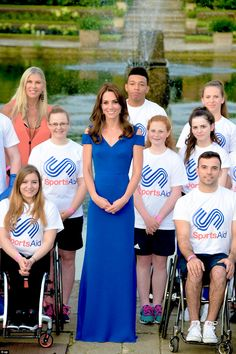 Catherine, Duchess of Cambridge attends SportsAid's 40th Anniversary Gala Dinner on June 9,2016.