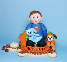 First Birthday Cake Topper #polymer clay #etsy