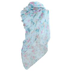 Flower Power! Summer scarf with tiny flower print. www.yehwang.com