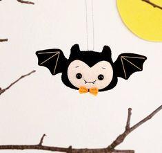 Halloween Ornament Cute Bat Boy Felt Spooky Stuffed Toy