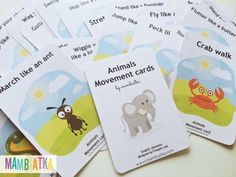 Some time ago I taught my students Wag Your Tail song by SSS. I decided to prepare some movement cards to learn the song better. I started creating the cards and it turned out that there were 25 of them! They go with Wag Your Tail and Let's Go To The Zoo songs by SSS.