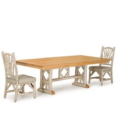 Rustic Dining Table #3121, Rustic Dining Chairs #1400 by La Lune Collection