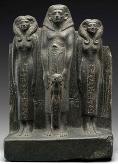 Grupo escultural del gobernador UKHHOTET y su familia. Hacia 1981-1802 a.C. Dinastía XII del Imperio Medio. Reinado del faraón Sesostris II. Museo de Bellas Artes de Bostón.