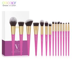 8bd4fde0f9c Docolor Makeup Brush Set 14PCS Professional Make Up Brushes New Brushes for Face  Makeup Foundation Powder