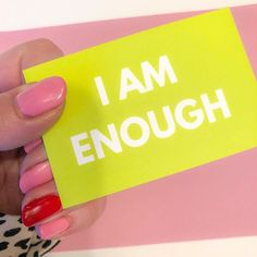Just a little Sunday morning reminder that YOU ARE ENOUGH! We so often focus on what we havent done or dont do etc that we forget all the things we do. I often feel like I need to constantly improve on who I am but I think probably what I really need to do is accept myself for me! . Part of the anxiety affirmation card set! #ad . . . . #iamenough #selfacceptance #youareenough #everydaymindfulness #qotd #wordstoliveby #affirmationaddict #mindfulness #wordsofwisdom #believeinyourself… I Am Enough, You Are Enough, Affirmation Cards, Slogan Tshirt, To Strive, Mind Over Matter, Self Acceptance, Just A Little, Sunday Morning