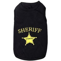 Parisian Pet Sheriff Dog T-Shirt, Small ** Learn more by visiting the image link. (This is an affiliate link) #ApparelAccessories