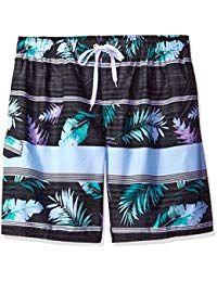 55dea12c45 $24.99 - Men's Big Condor Extended Size Stripe Floral Swim Trunk - -  labeltail.com