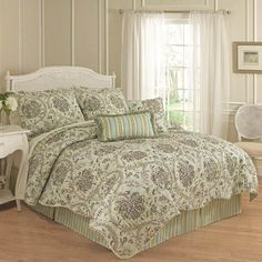 Waverly® Holi Festival Reversible Quilt Set & Accessories found at Waverly Bedding, Down Comforters, Comforter Sets, Reversible Bedding, Bedding Sets, Bed, King Comforter Sets, Comforters, Twin Comforter Sets