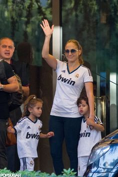 Jennifer Lopez and Twins Max and Emme in Spain #twins