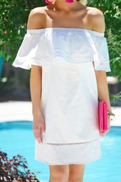 Crisp Cotton Dress, White :: NEW ARRIVALS :: The Blue Door Boutique